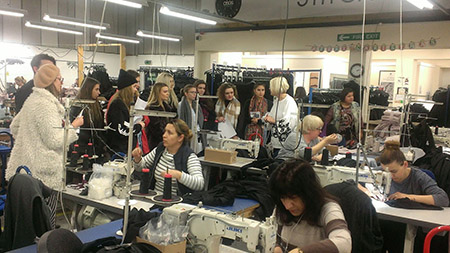 Students from Bath Spa University visit Fashion Enter